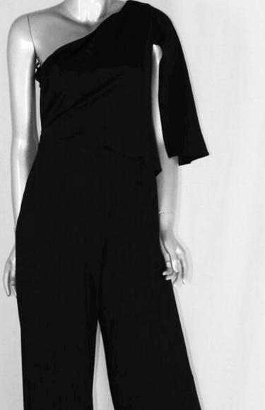 a431c321c5a black jumpsuit. Boutique. Adrianna Papell